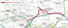 Plànol camí tallat per obres les Morelles