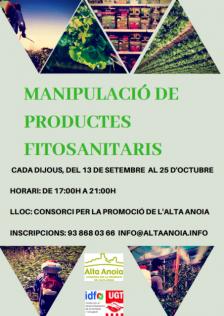 Curs de manipulació de productes fitosanitaris