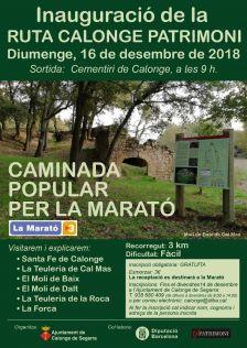 Inauguració de la ruta Calonge Patrimoni i caminada popular per la Marató