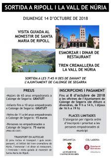 Cartell sortida a Ripoll i la Vall de Núria