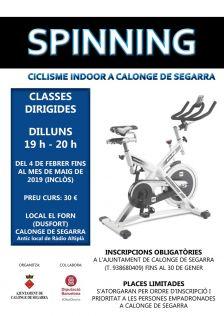 Inscripcions obertes al curs d'spinning