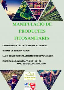 Places disponibles al curs de manipulació de productes fitosanitaris