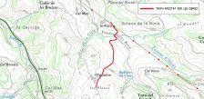 El camí de Ca l'Agustina a la Roca, tallat per obres