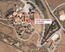 """El local electoral de Calonge de Segarra serà el local """"El Forn"""", situat a Dusfort"""
